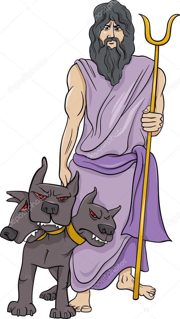 Greek God Hades Cartoon Illustration Stock Vector C Izakowski