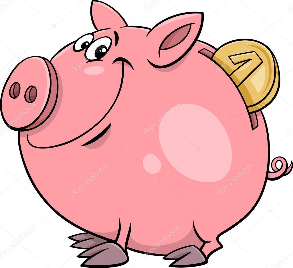 cofrinho com desenho de moeda vetor de stock  u00a9 izakowski piggy clipart pig clipart png
