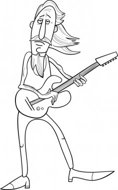 old rock man cartoon illustration