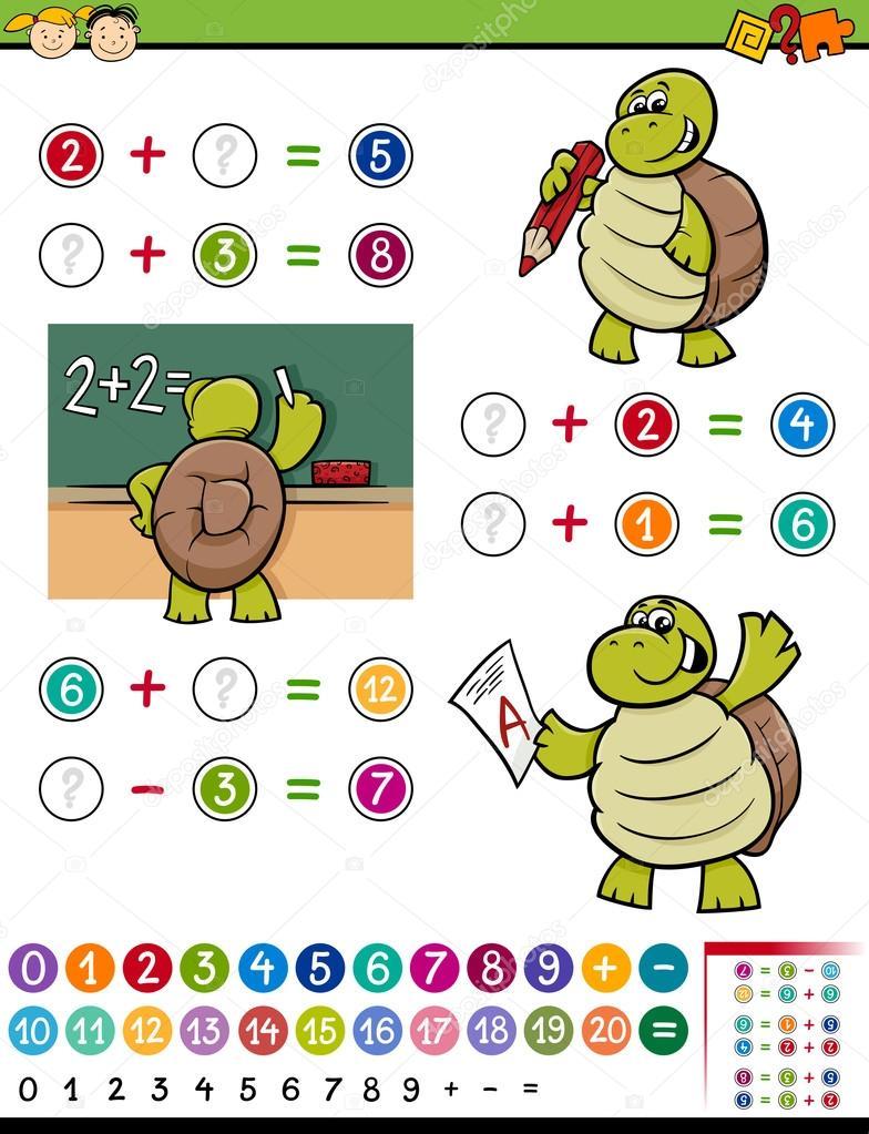 Animado Un Matematico Ilustracion De Dibujos Animados Juego De