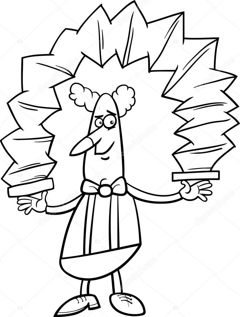 libro para colorear de payaso de dibujos animados — Vector de stock ...