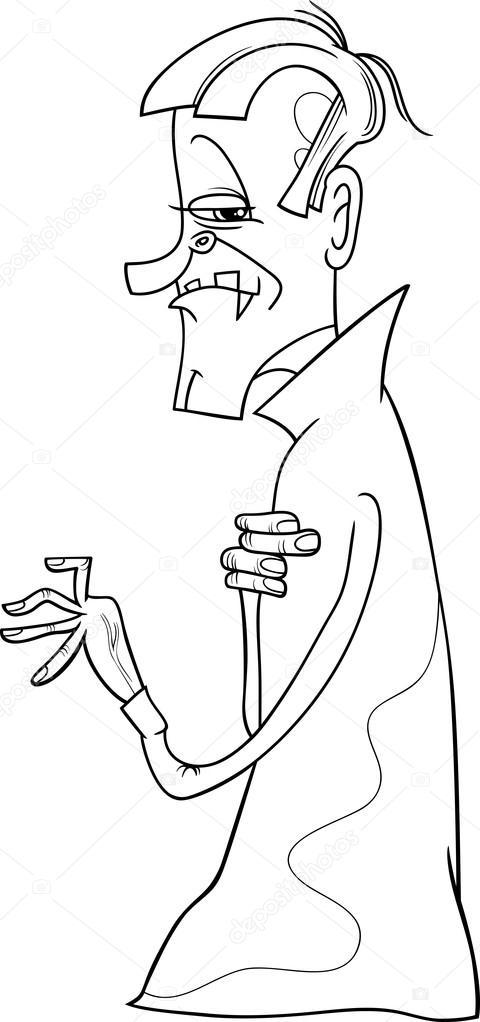Página para colorear dibujos de vampiro — Archivo Imágenes ...