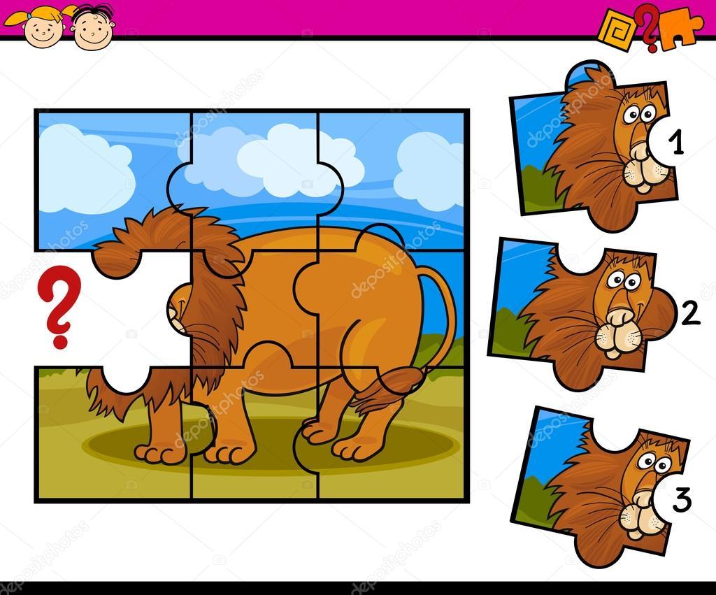 Preescolar Dibujos Animados Rompecabezas