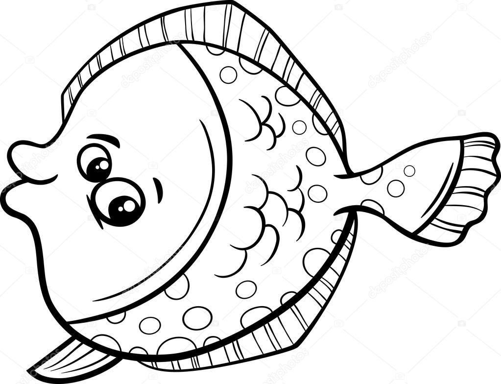 Pisi Balığı Balık Boyama Kitabı Stok Vektör Izakowski 79372132