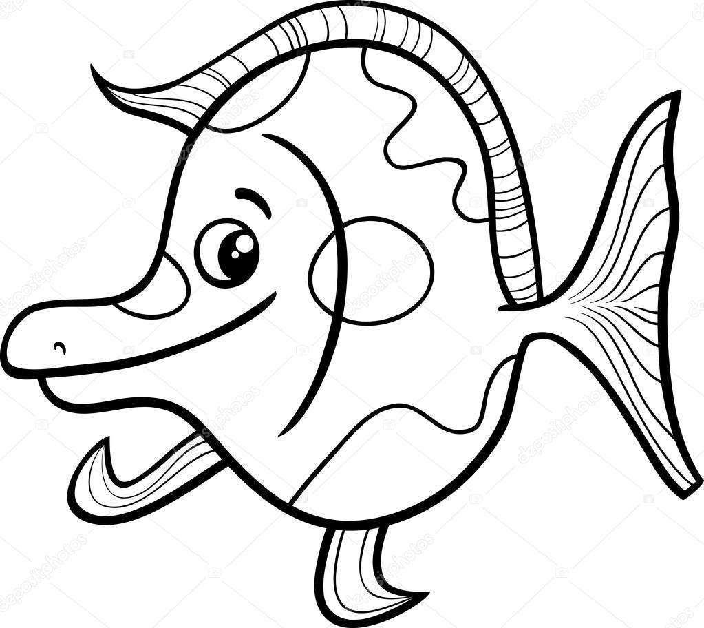 Zeester Kleurplaat Met Kleur Egzotik Balık Boyama Sayfası Stok Vekt 246 R 169 Izakowski