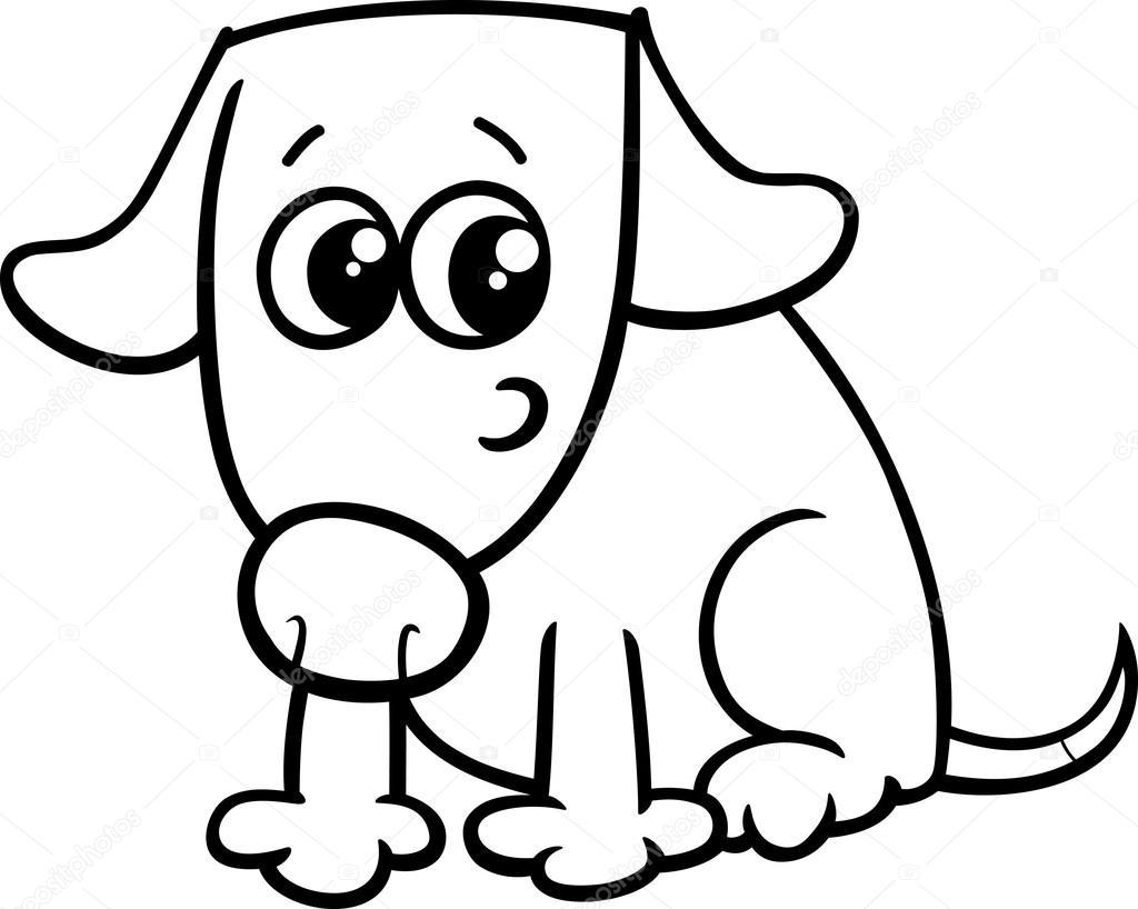 Köpek Ya Da Köpek Yavrusu Boyama Kitabı Stok Vektör Izakowski