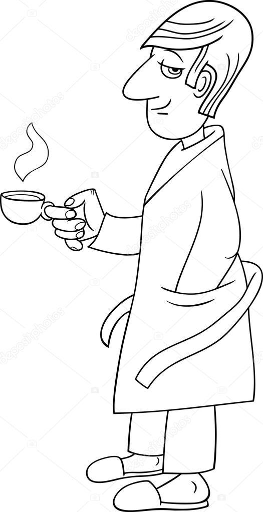 hombre con caricatura de café — Vector de stock © izakowski #79808954