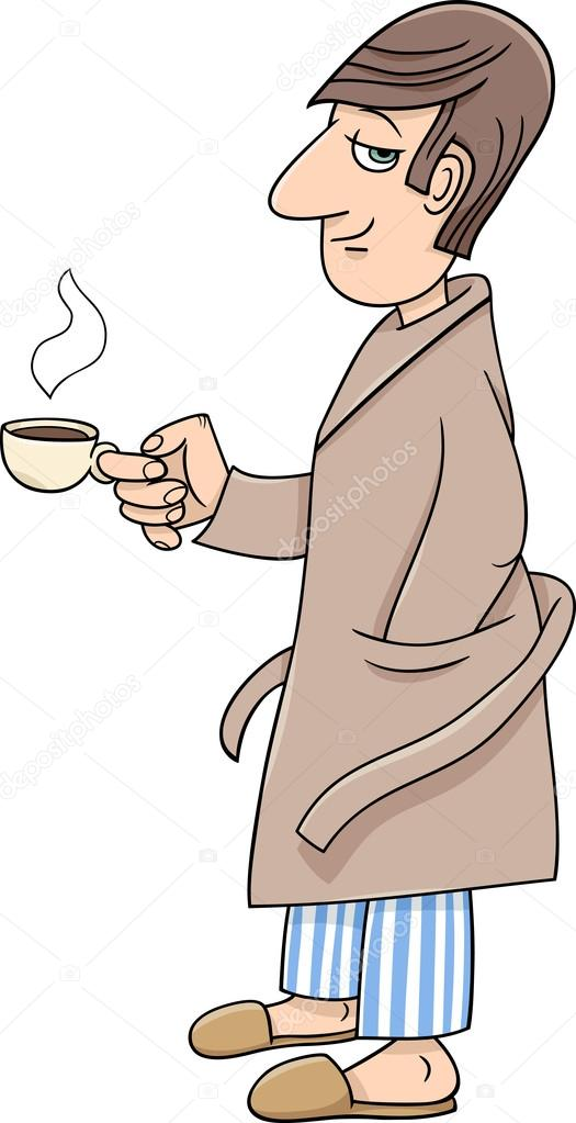 hombre con dibujos animados de café — Archivo Imágenes Vectoriales ...