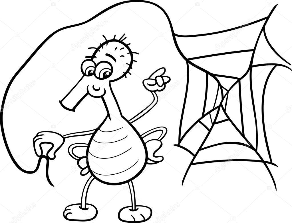örümcek Web Boyama Kitabı Ile Stok Vektör Izakowski 79809578