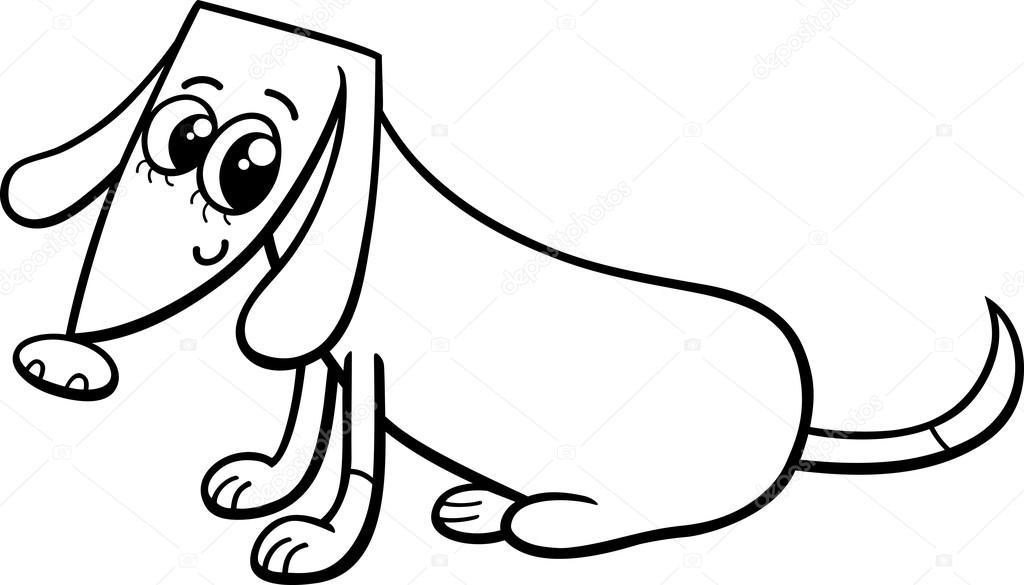 Dişi Köpek Boyama Sayfası Stok Vektör Izakowski 80064846