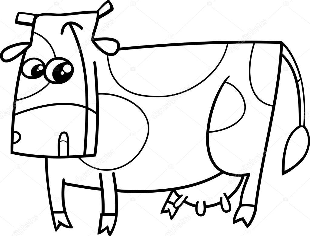Inek çiftlik Hayvan Boyama Kitabı Stok Vektör Izakowski 80633756