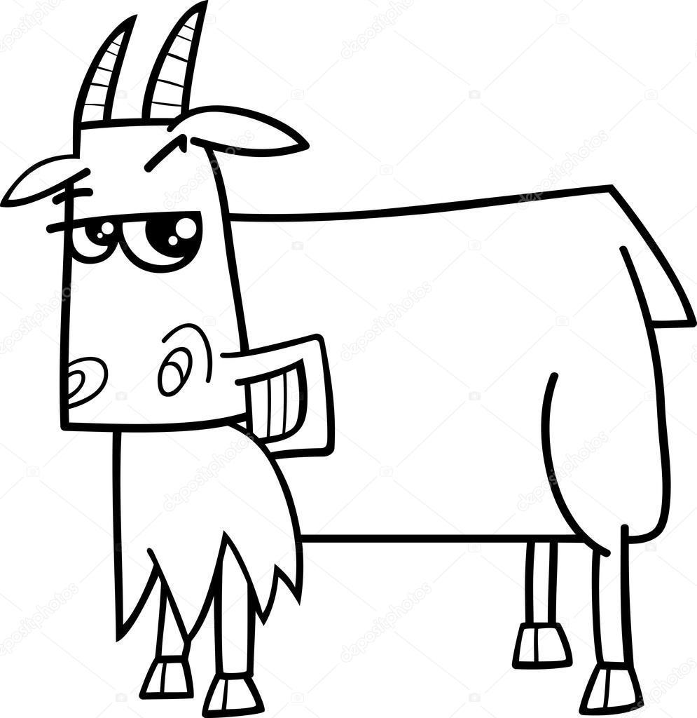 Keçi çiftlik Hayvan Boyama Kitabı Stok Vektör Izakowski 80633768
