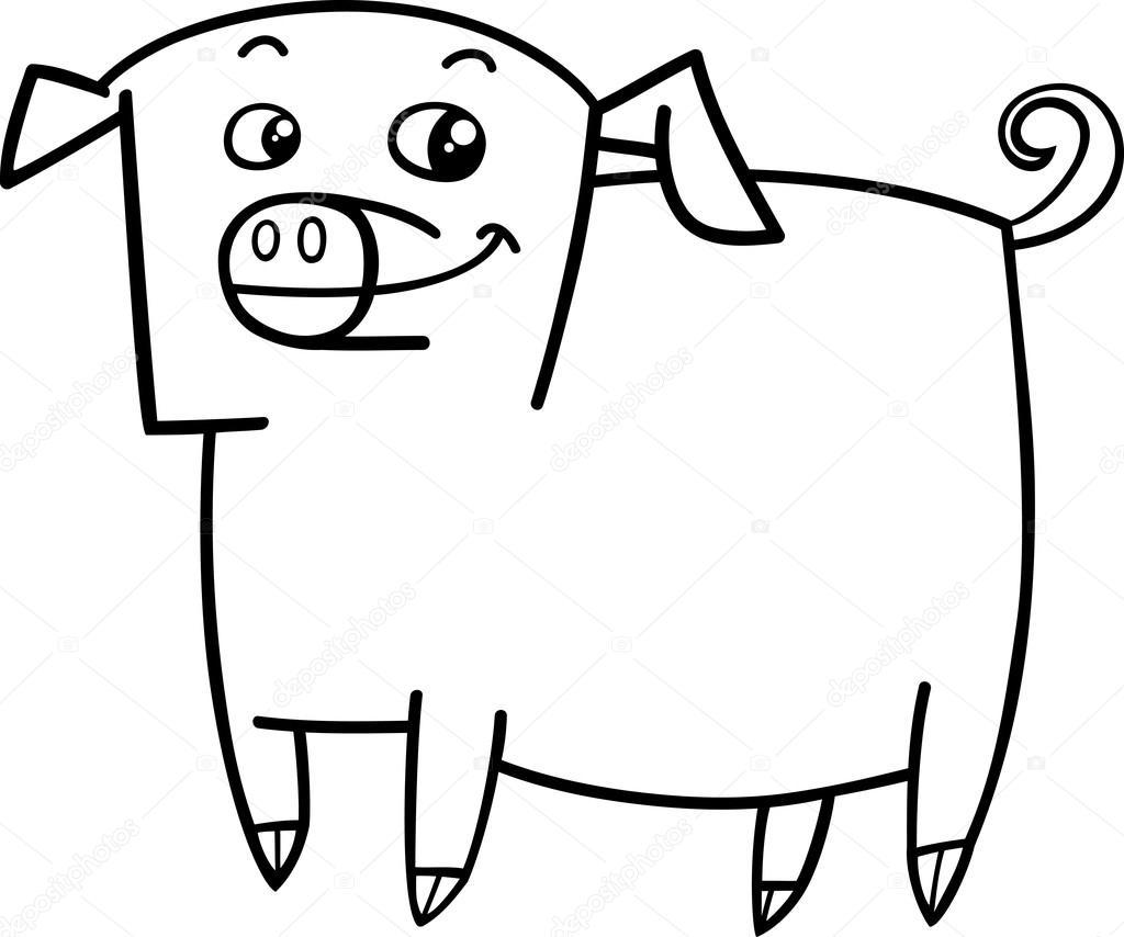 Coloriage Ferme Cochon.Livre De Coloriage Animaux Ferme Cochon Image Vectorielle
