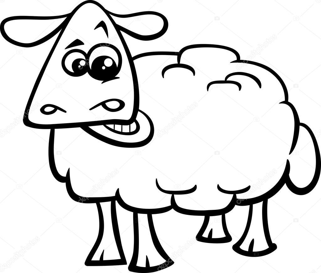 libro para colorear animales de la granja de ovejas — Archivo ...