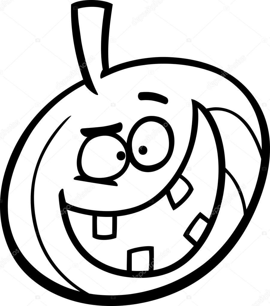 halloween pumpkin coloring page — Stock Vector © izakowski #84734158