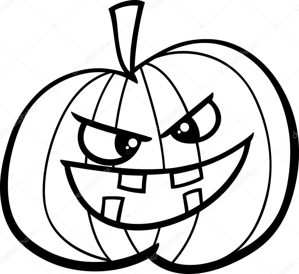 Jack O Lantern Coloring Page Stock Vector C Izakowski 84734168