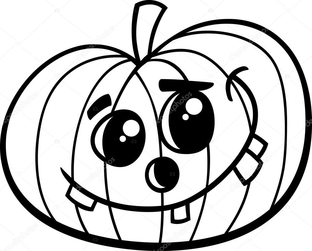 halloween pumpkin coloring book — Stock Vector © izakowski #84734186