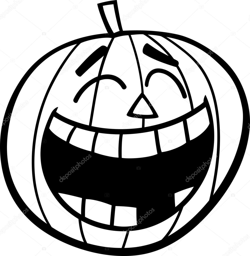 laughing pumpkin coloring page — Stock Vector © izakowski #84734210