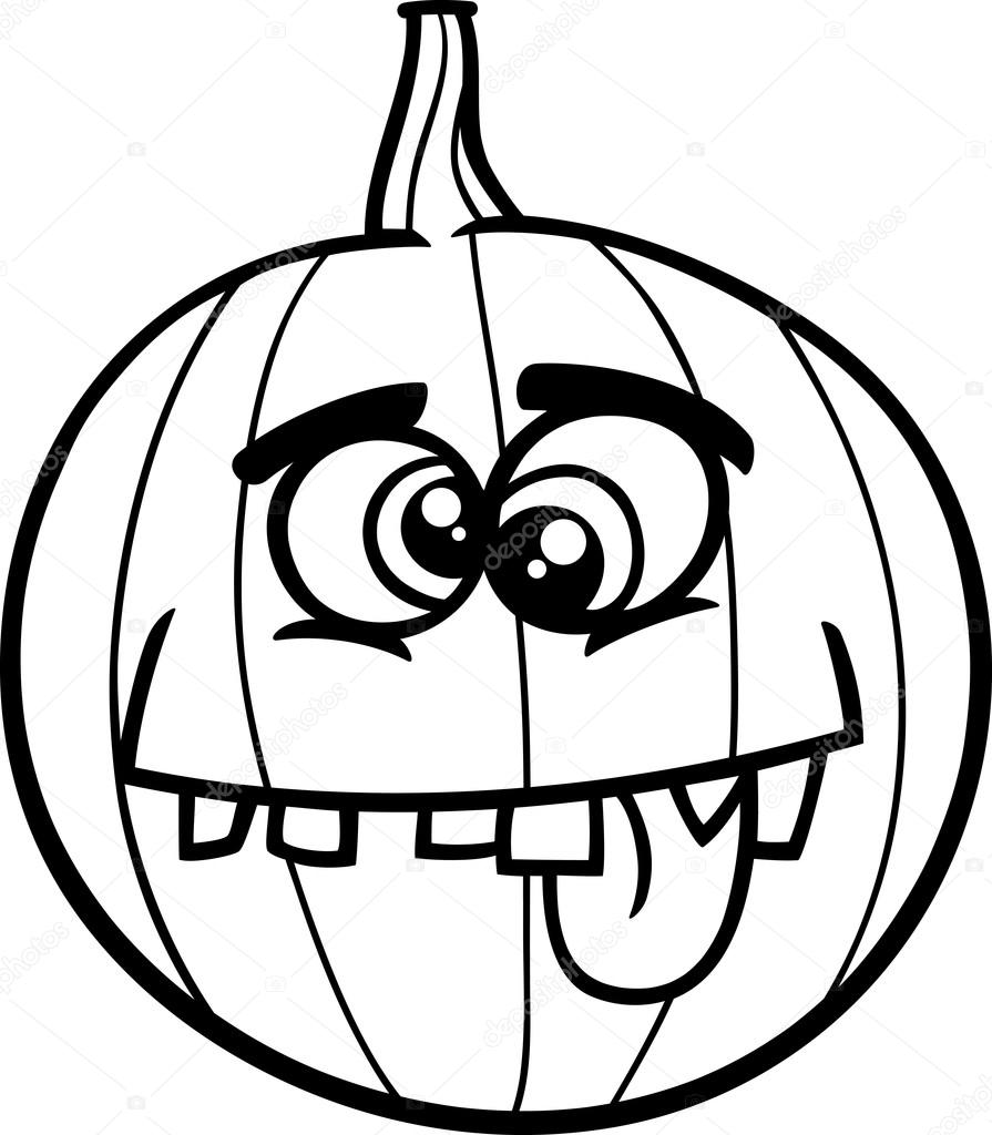 jack o lantern coloring book — Stock Vector © izakowski #84993724