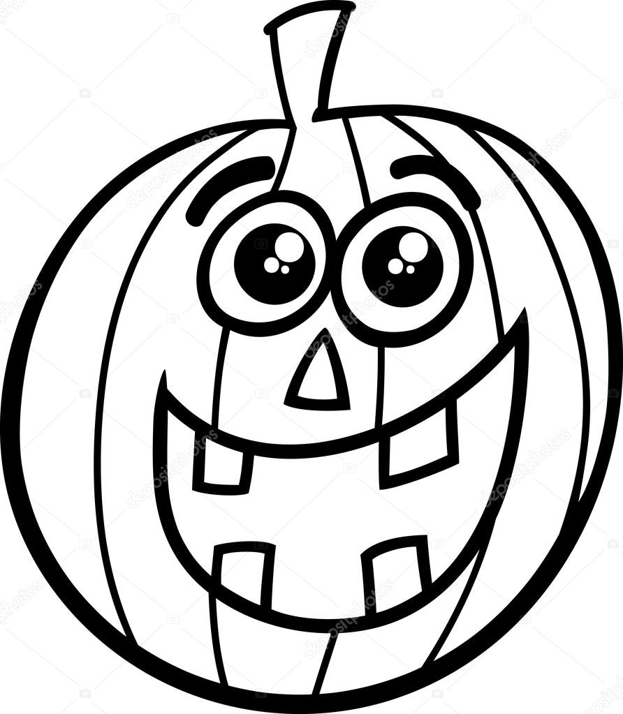 Stock Illustration Halloween Pumpkin Coloring Page on Preschool Halloween Worksheets