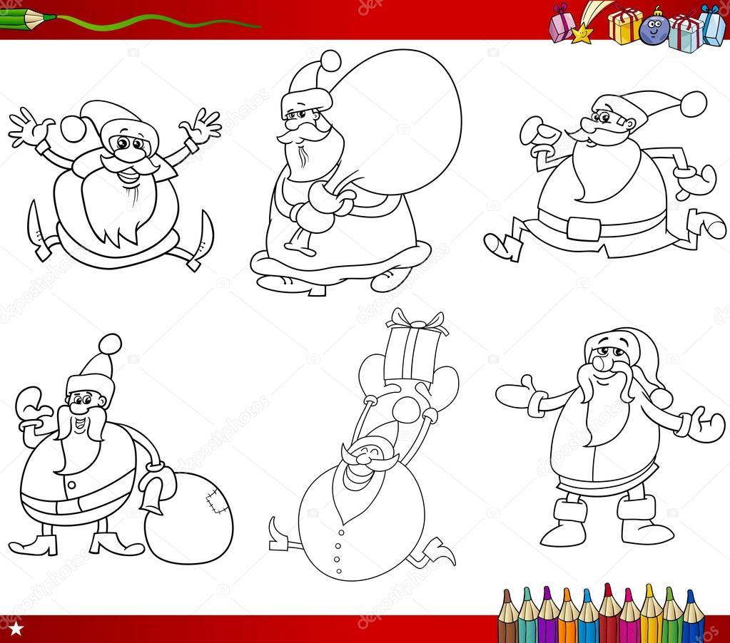 temas de Navidad para colorear libro — Archivo Imágenes Vectoriales ...