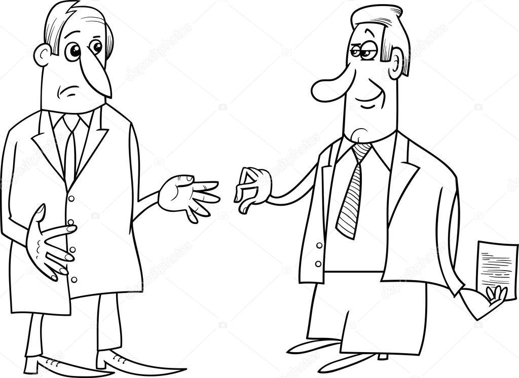 Imágenes Negociacion Para Colorear Ilustración De Las