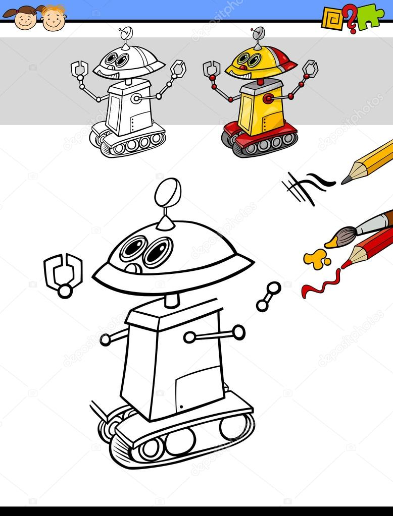çizim Ve Görev çocuklar Için Boyama Stok Vektör Izakowski 89104984