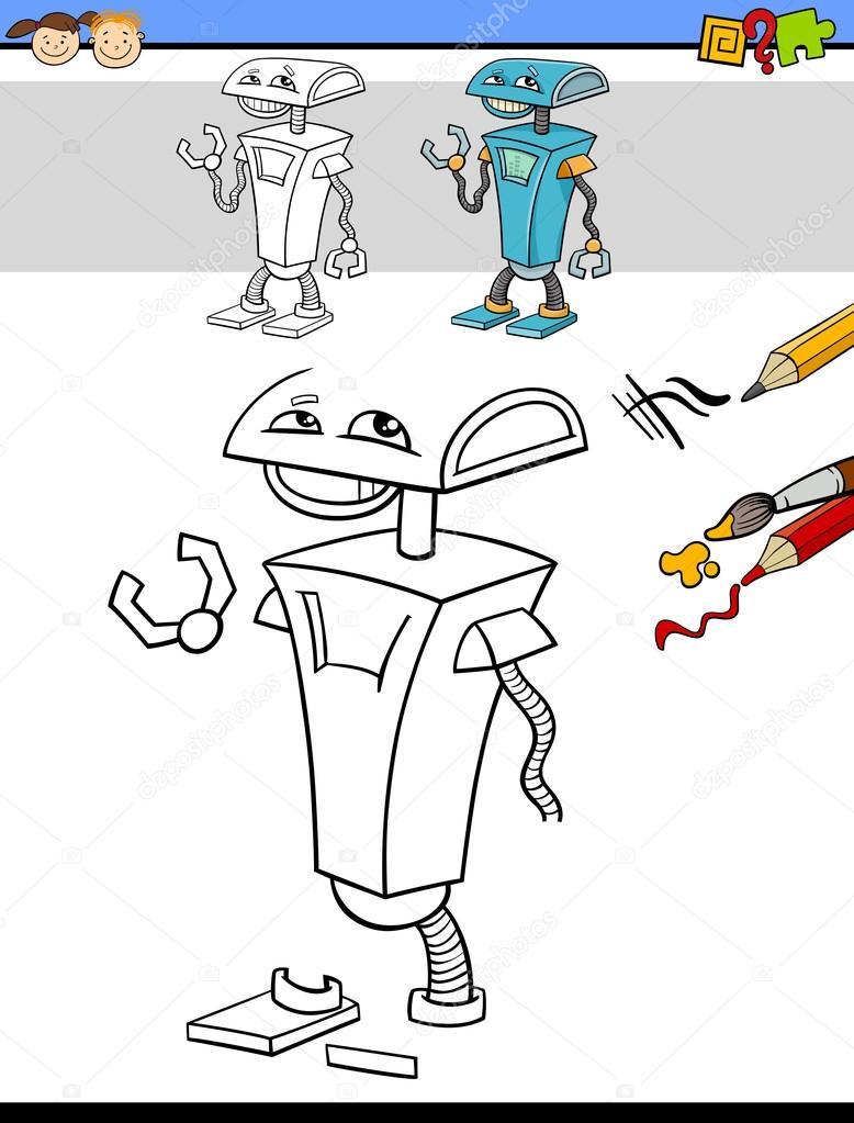 çizim Ve Görev Robot Ile Boyama Stok Vektör Izakowski 89105054