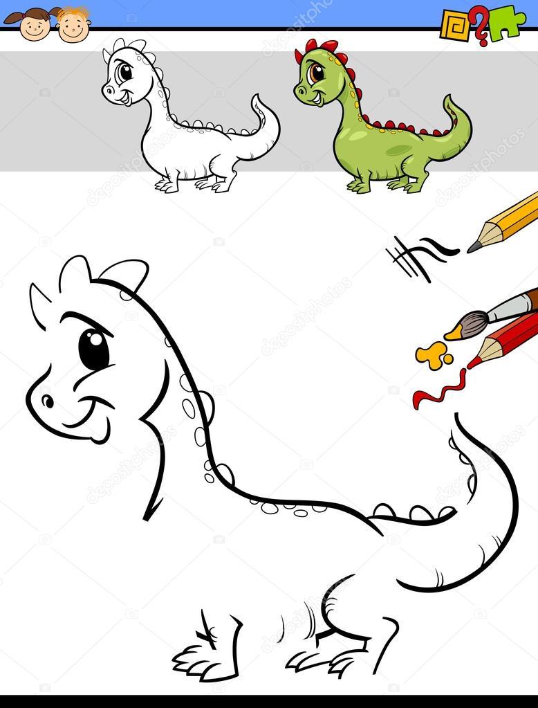 tarea de dibujo para niños de preescolar — Archivo Imágenes ...