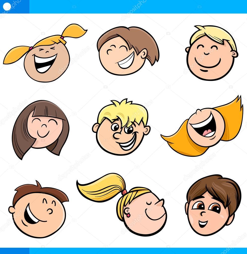 cartoon kids characters set u2014 stock vector izakowski 90156976