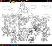 omalovánky piráti kreslený