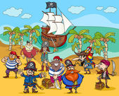 Piráti na Ostrov pokladů kreslený