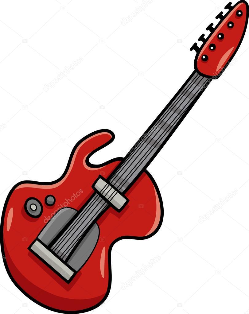 prediseñadas de la historieta de guitarra eléctrica — Archivo ...