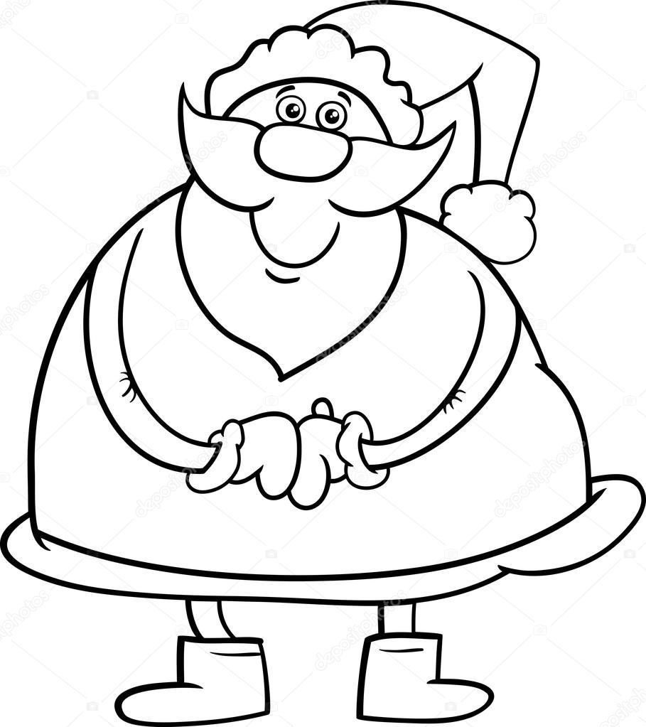 santa claus coloring book — Stock Vector © izakowski #90534736