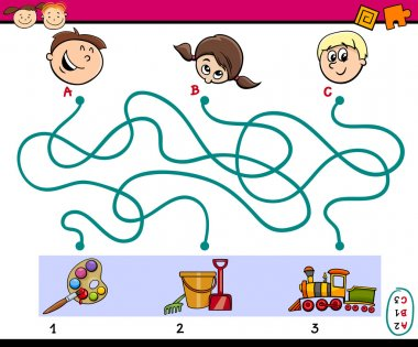 maze paths task for children