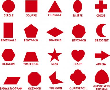 education basic geometric shapes