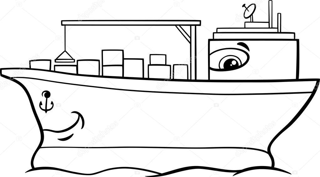 Animado: barco dibujo para colorear | Página para colorear de ...