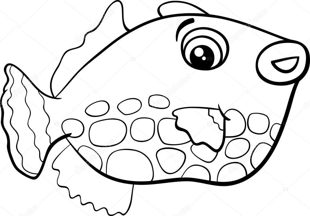 Egzotik Balık Boyama Sayfası Stok Vektör Izakowski 91946566