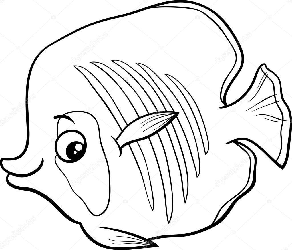Kleurplaat Nemo Vis Exotick 233 Ryby Omalov 225 Nky Stock Vektor 169 Izakowski 91946620
