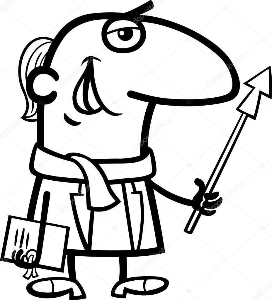 Animado Escuela Caricatura Para Colorear Libro De Colorear De