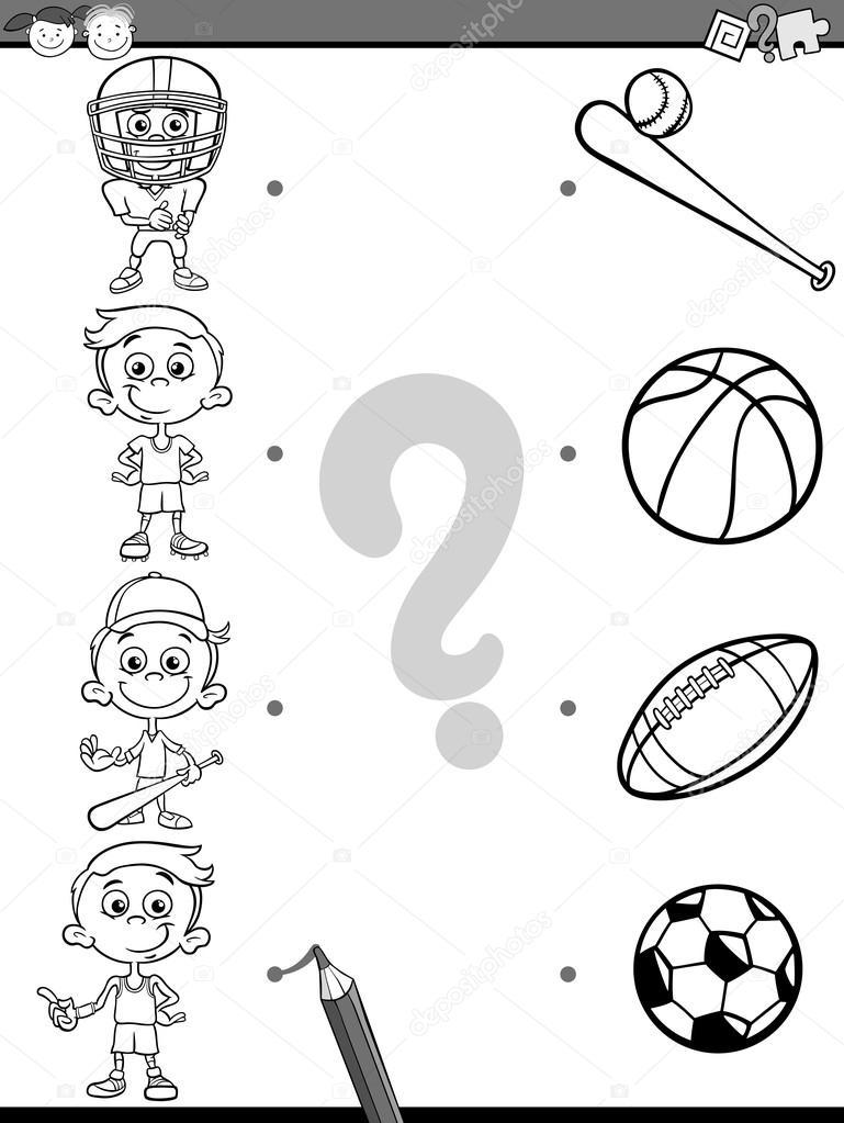 Dibujos Deportes Para Niños Página Educativa Para Colorear