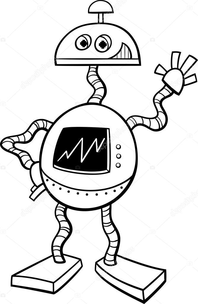 libro de colorear robot o droide — Vector de stock © izakowski #95754024