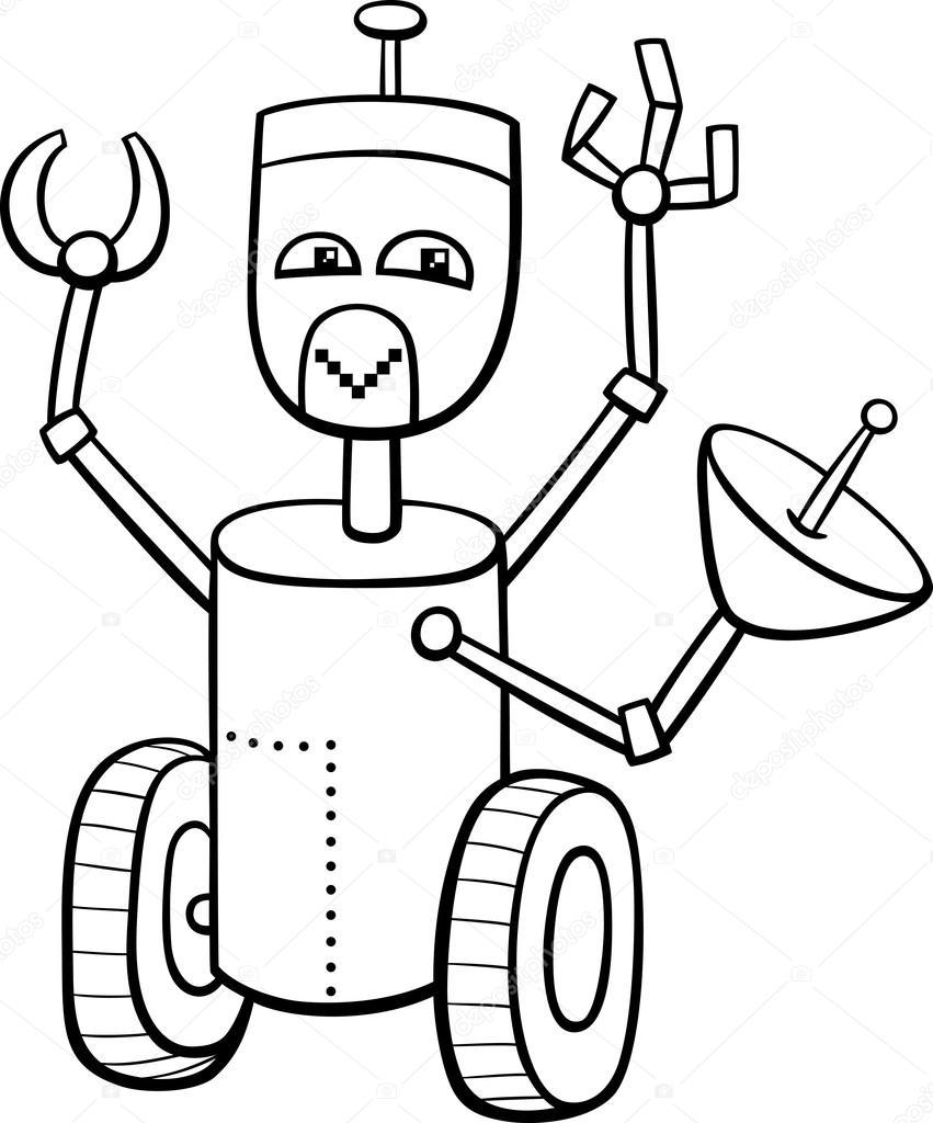 robot coloring book — Stock Vector © izakowski #95754060