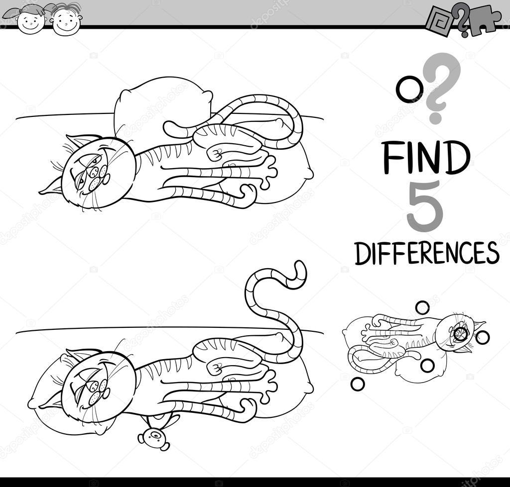 Farklılıklar Görev Boyama Sayfası Stok Vektör Izakowski 96345234