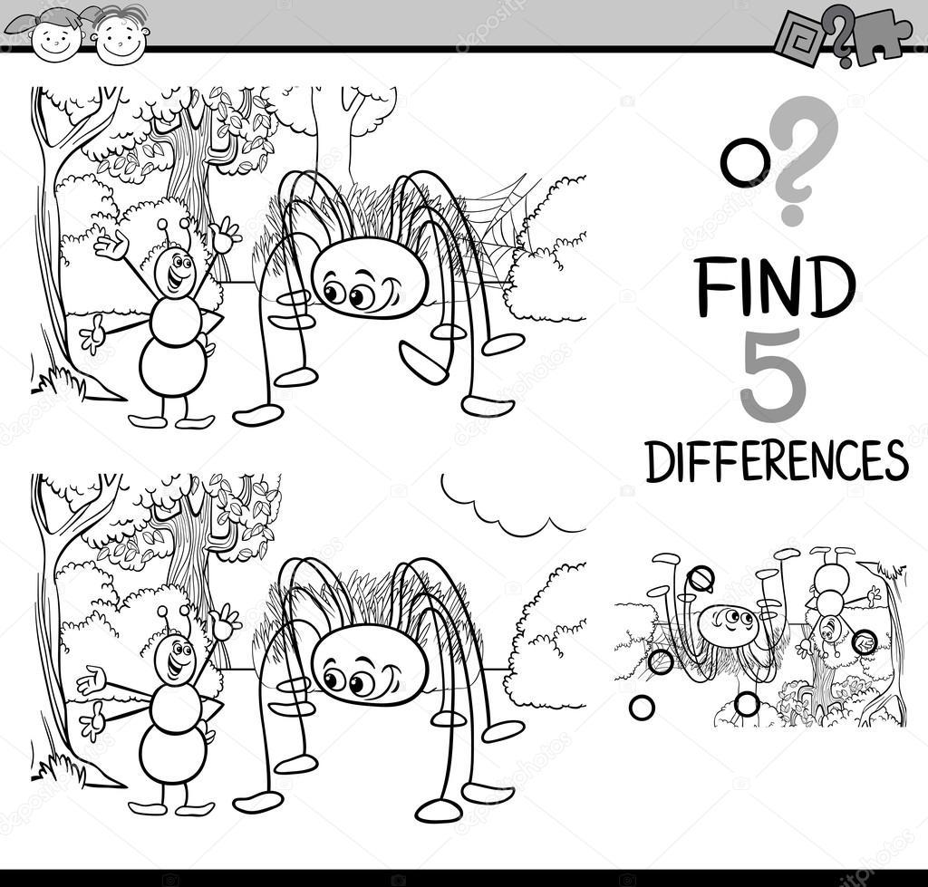 Görev Farkların Boyama Kitabı Stok Vektör Izakowski 96892956