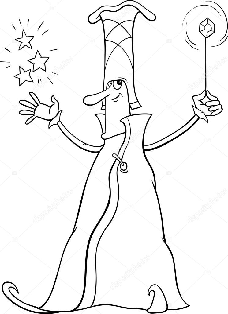 - Wizard Character Coloring Book — Stock Vector © Izakowski #97231390