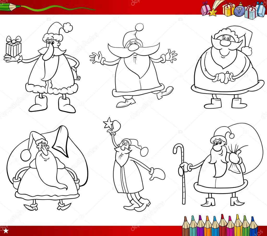 Santa en Navidad para colorear libro — Vector de stock © izakowski ...