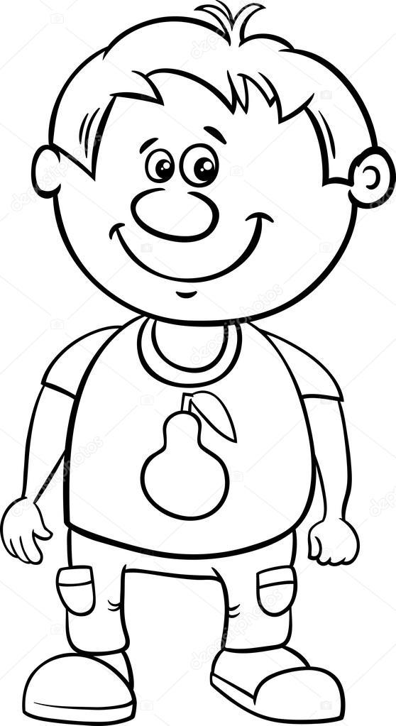 Küçük çocuk Boyama Kitabı Stok Vektör Izakowski 98936876