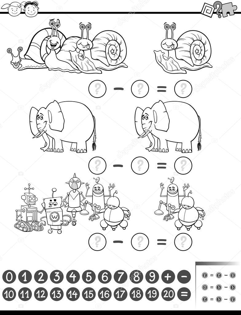 Dibujos Mates Animados Para Colorear Página De Colorear De Tarea