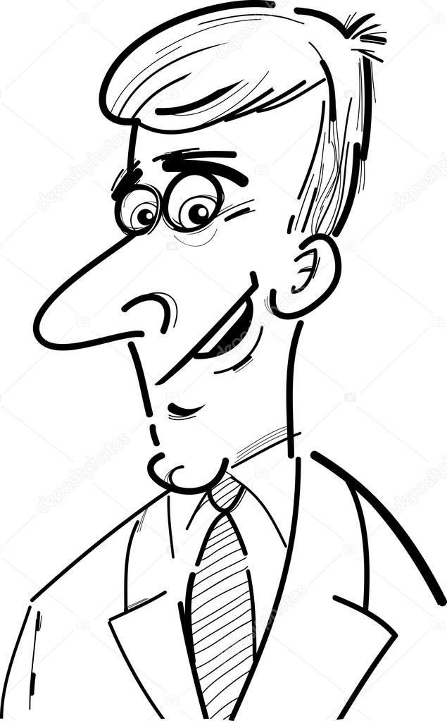 Caricature Homme croquis de caricature homme d'affaires — image vectorielle izakowski